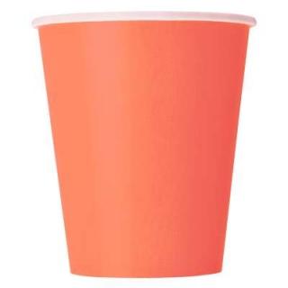 Хартиена парти чашка корал 250 мл, 14 бр. в опаковка