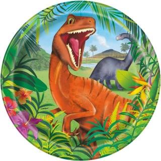 Хартиена парти чинийка Динозаври 23 см / Dinosaur