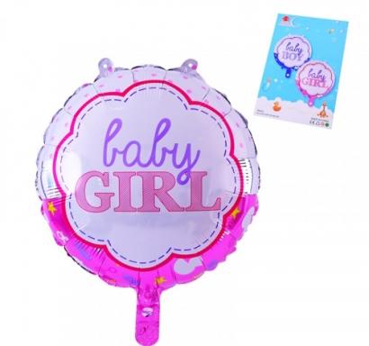 Фолиев балон Бебе момиче Baby Girl, 45х45 см