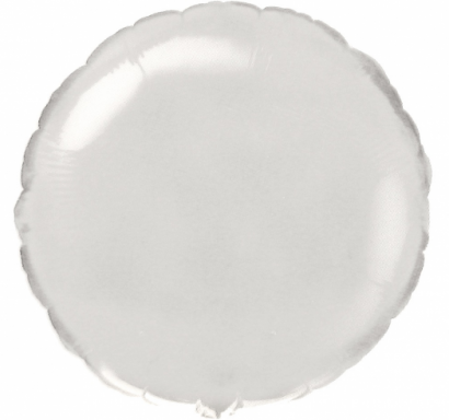 Фолиев балон кръг цвят бял, 45 см Flexmetal, /Gd/