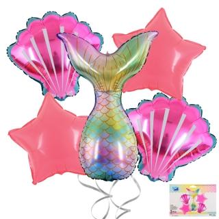 Комплект 5 бр. фолиеви балони Русалка / Mermaid
