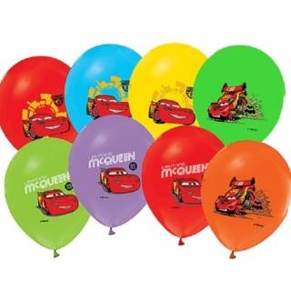 Балон с печат Маккуин, диаметър 30 см, 5 бр. в пакет, лицензирани