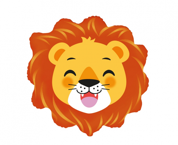 Балон фигура Лъв глава, 59 см лиценз Flexmetal /Gd/