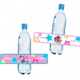 Персонализиран парти етикет за бутилка с вода Лол Сърпрайс, 5бр. в пакет
