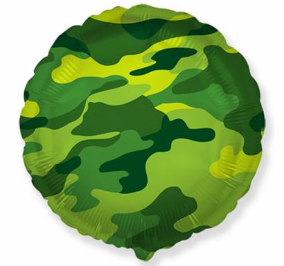 Фолиев балон кръг Камуфлаж /  40 см, Flexmetal /Gd/