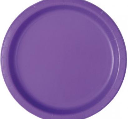 Хартиена парти чинийка лилава неон, 23 см