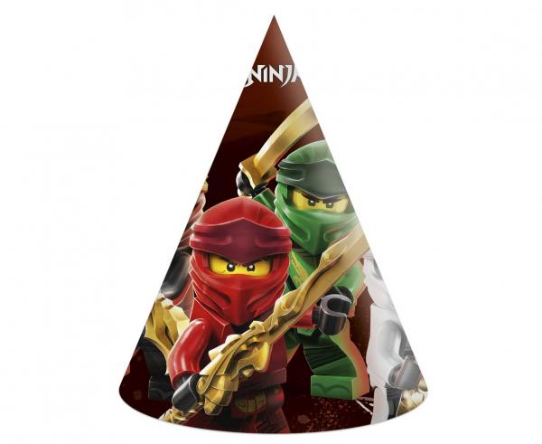 Парти шапка Лего Нинджаго / Lego Ninjago,  6 бр. в опаковка /Gd/
