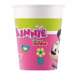 Хартиена парти чашка Мини Маус / Minnie Mouse 200 мл, 8 бр. в опаковка /Gd/