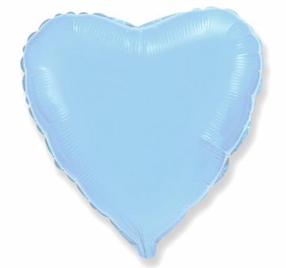 Фолиев балон Сърце, цвят светло син 46 см /Gd/