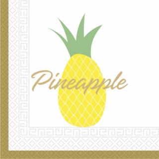 Парти салфетки Ананас / Pineapple 33х33 см, 20бр. в пакет /Gd/