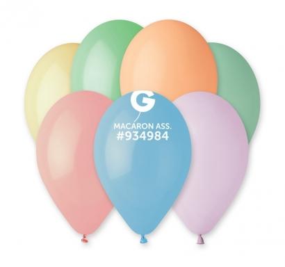 Балон  цвят макарон микс цветове, диаметър 26 см, 10 бр. в пакет Gemar Италия