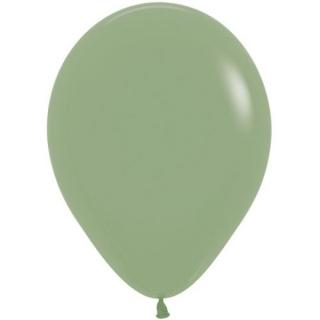 Балон цвят каки, евкалипт / sage, eukalyptus / зелен пастел, диаметър 30 см, 10 бр. в пакет