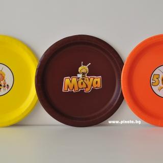 Персонализирана хартиена парти чинийка пчеличката Мая
