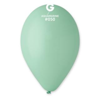Балон  цвят аквамарин пастел, диаметър 26 см, 10 бр. в пакет Gemar Италия