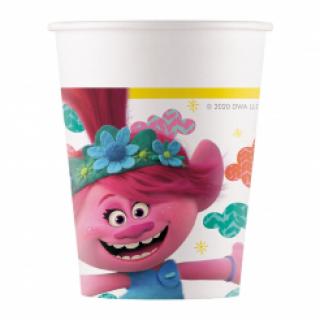 Хартиена парти чашка Тролчета / Trolls  200 мл, 8 бр. в опаковка /Gd/
