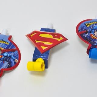 Парти свирки Супермен, 6бр. пакет, лицензирани DC Comics