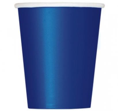 Хартиена парти чашка тъмно синя 250 мл, 14 бр. в опаковка