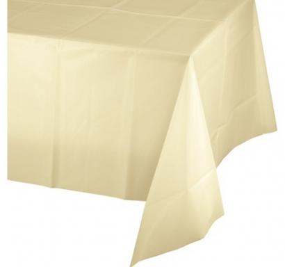 Покривка за еднократна употреба, цвят екрю, шампанско 137х274 см