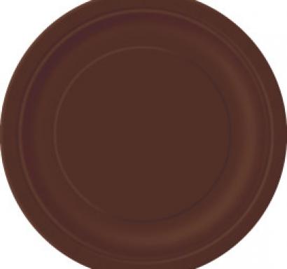 Хартиена парти чинийка кафява, 23 см