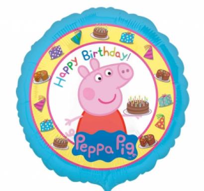 Фолиев балон Пепа Пиг Happy Birthday, 43 см лиценз Anagram /Gd/