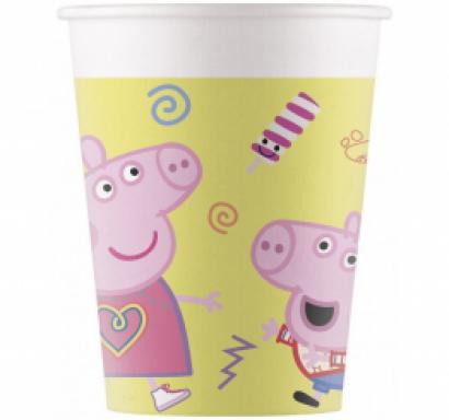 Хартиена парти чашка Пепа Пиг 200 мл, 8 бр. в опаковка /Gd/
