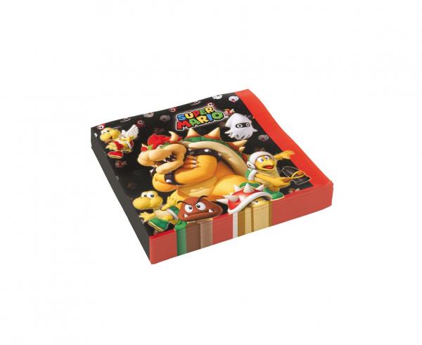Парти салфетки Супер Марио / Super Mario 33х33 см, 20бр. в пакет /Gd/