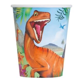 Хартиена парти чашка Динозаври 250 мл, Dinosaur