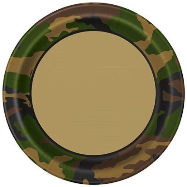 Хартиена парти чинийка Камуфлаж военни 23 см, Military Camo