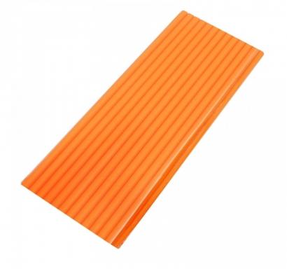Сламки оранжеви картон тип