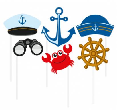 Пропсове за забавни снимки и декорация Морска тема