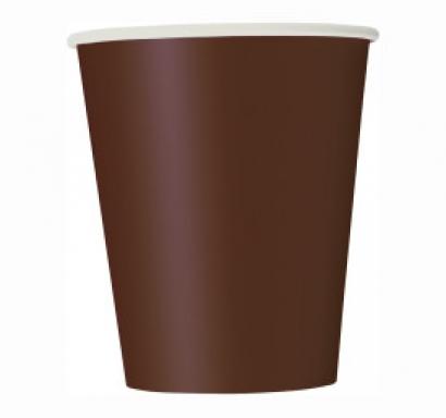 Хартиена парти чашка кафява 250 мл
