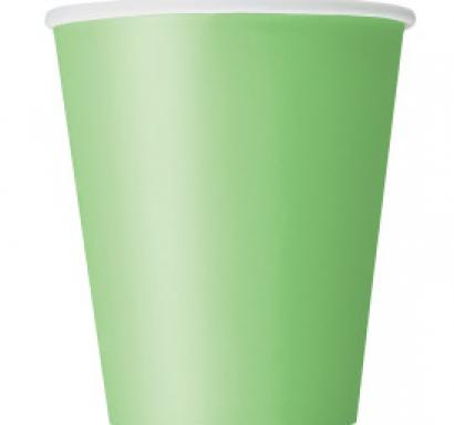Хартиена парти чашка зелена лайм  250 мл