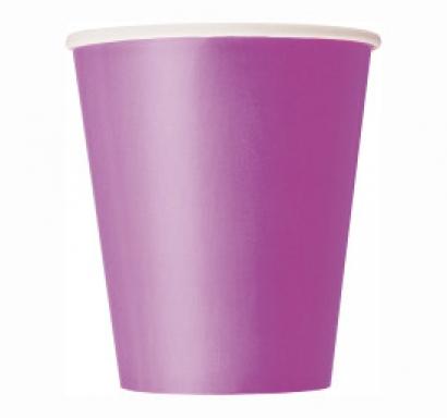 Хартиена парти чашка лилава 250 мл