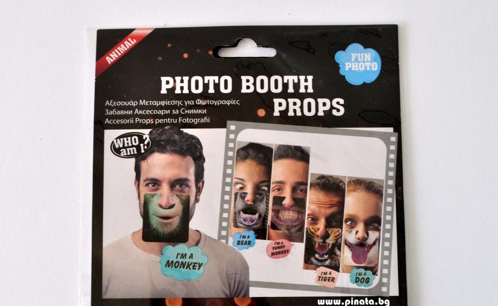 Пропсове за забавни снимки Мъжка уста животни, 5 бр комплект