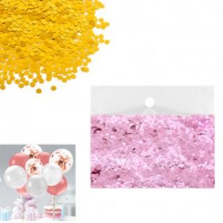 Конфети за балони цвят розов