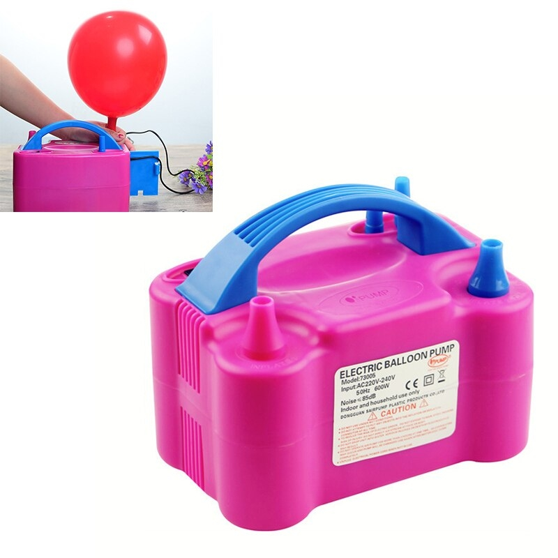 Електрическа помпа за надуване на балони с две гнезда