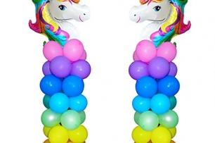 Стойка за 7 броя балони тип колона, височина 165 см.