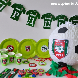 Промо тематичен парти пакет х 10 Футбол Ботев Враца