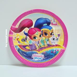 Хартиена парти чинийка Искрица и Сияйница  23 см, лицензирани