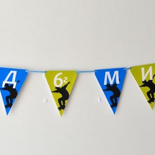 Персонализиран банер Честит Рожден Ден Скейтборд