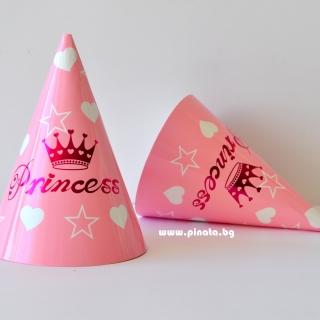 Парти шапка Принцеса за момиче, 6 бр пакет
