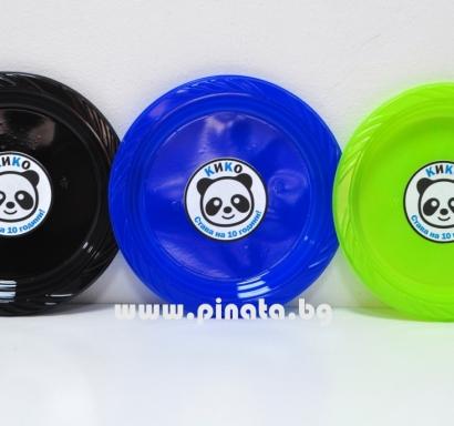 Персонализирана пластмасова парти чинийка Панда