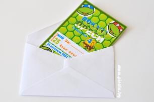 Персонализирана покана за рожден ден  Костенурките Нинджа