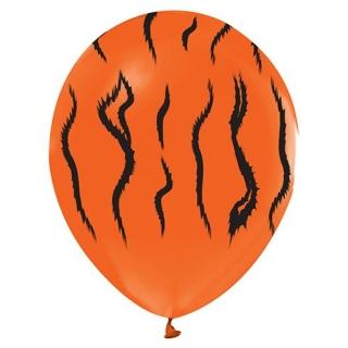Балон с печат Тигър Сафари Джунгла, диаметър 30 см, 5 бр. в пакет