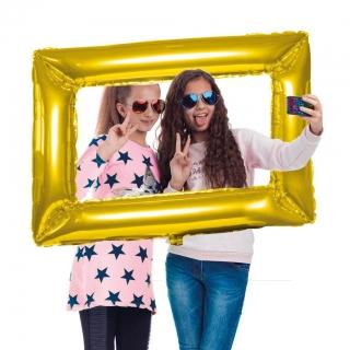 Балон златна фоторамка  /фолио/, 101х84 см