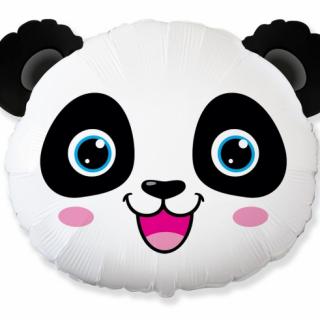 Балон фигура Панда глава, 65 см лиценз Flexmetal /Gd/