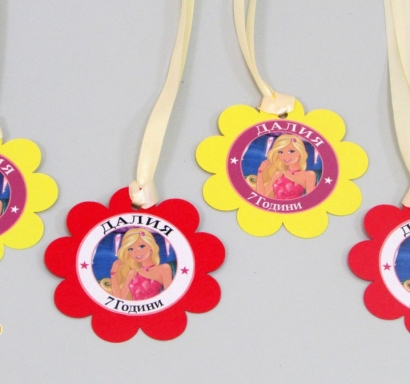 Персонализиран парти медальон Барби Принцеса