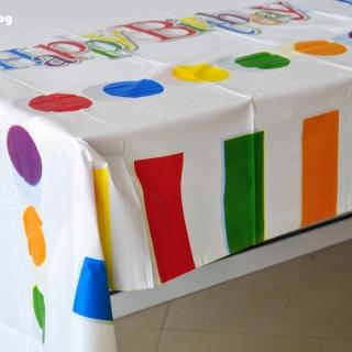 Парти покривка Честит Рожден Ден Happy Birthday 120х180 см