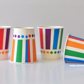 Хартиена парти чашка Цветна