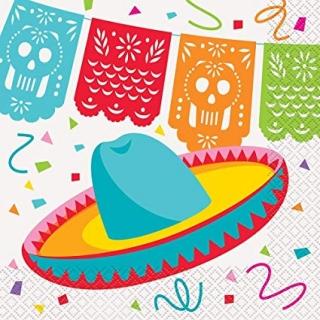 Парти салфетки Мексиканска Фиеста 16 бр в пакет, Mexican Fiesta